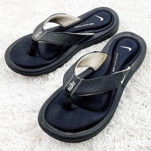 NIKE black Cushion Sliders Flip Flops   7